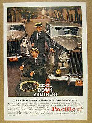 1960 rolls-royce cars photo Pacific Mills Mohara Suits vintage print Ad