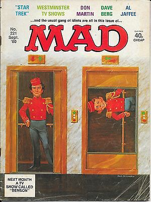 Mad Magazine No.221 & 287 - Star Trek, Miami Vice, Al Jaffee, Don Martin!!!