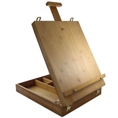 artists Bamboo table top easel, (ECO-308L) easels with built in storage.