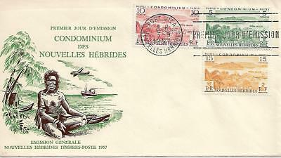 New Hebrides Condominium 1957, Port Vila, FDC Unaddressed.