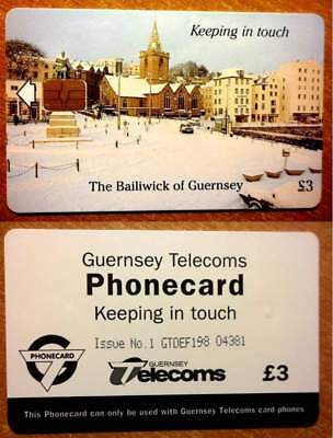 Guernsey - Gue 25 - Noel 1997 - Keeping In Touch - 3 £