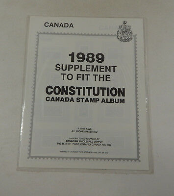 CANADIAN WHOLESALE SUPPLY Dominion Canada Stamp Album 1989