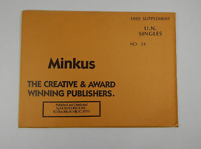 Minkus United Nations No. 34 1989 Supplement Singles Stamp Album Pages