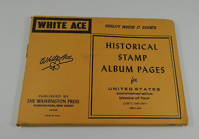 White Ace United States Commemorative Blocks of Four 1980-date Stamp Album Pages