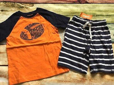 Gymboree 5 6 FREE SHIP Option NWT Boys Tee Shirt Shorts Football Striped NWT
