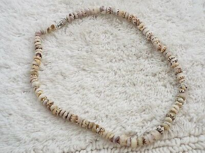 Genuine Brown White Tiger PUKA Shell Necklace (C35)