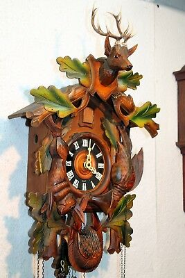 Old Cuckoo Clock Wall clock Chime Cuckoo Black Forest *Regula* made in Germany