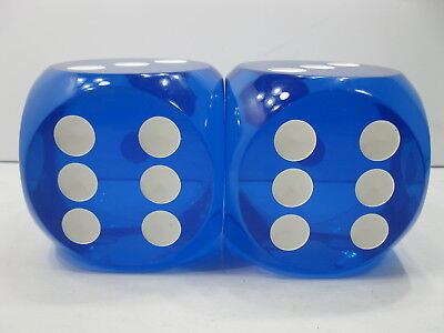 """Vintage Pair of LARGE HUGE Dice 4"""" Inches Each Total weight of 5 lbs 6 oz RARE"""