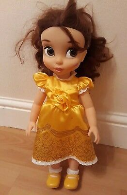 DISNEY BEAUTY AND THE BEAST BALLROOM BELLE TODDLER DOLL BRAND used
