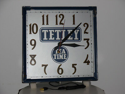 Vintage Tetley Tea Clock From the Sessions Clock Co In Original Box
