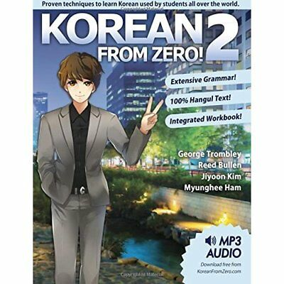 Korean From Zero! 2: Continue Mastering the Korean Lang - Paperback NEW Mr. Geor