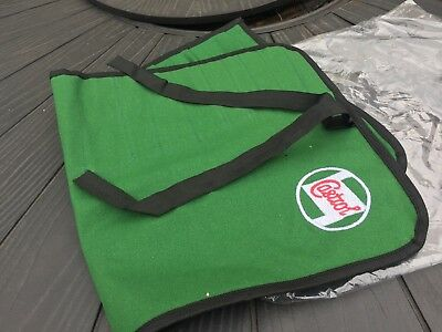 Classic Motorcycle Castrol Tool Roll In Green Canvas