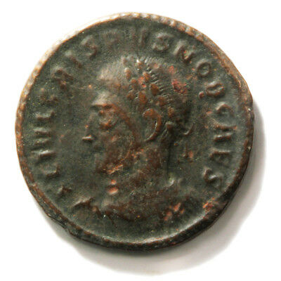 Bronze Coin of Roman Emperor Crispus (317-326 AD). Follis in Very Fine condition