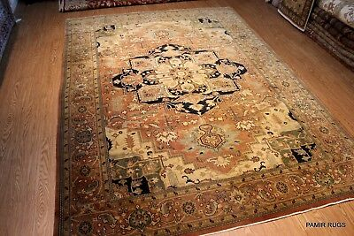 9' X 12' Persian Serapi Design Rust color Background Handmade Hand Knotted