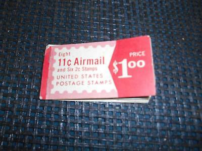 Old Vtg UNITED STATES POSTAGE STAMPS ERROR BOOKLET 2 cent Wright 11 cent Airmail