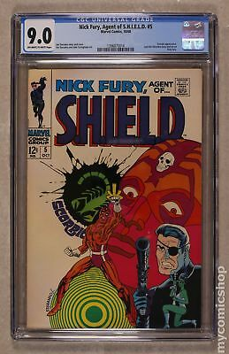 Nick Fury Agent of SHIELD (1st Series) #5 1968 CGC 9.0 1396875014