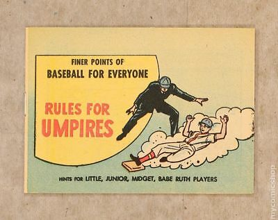Finer Points of Baseball For Everyone: Rules For Umpires 1964 VF/NM 9.0