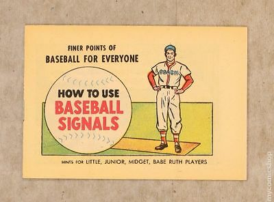 Finer Points of Baseball For Everyone: How to Use Baseball Signals 1962 VF+ 8.5
