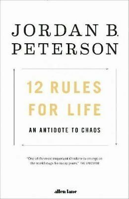 NEW 12 Rules for Life By Jordan B. Peterson Paperback Free Shipping