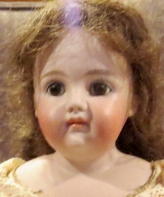 """Antique 18"""" German Bisque Closed Mouth Kestner Pouty Fashion Doll"""