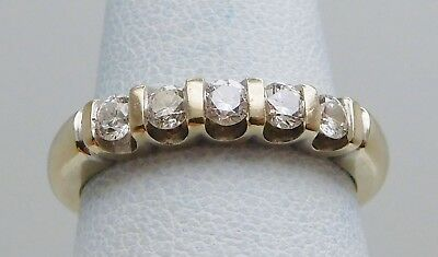 VINTAGE Solid 14k Yellow Gold / Diamonds Ladies Ring * .60 CT TWT * Size 7.25