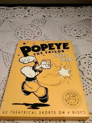 Popeye The Sailor 1933-1938 Authorized Edition 60 Theatrical Shorts on 4 DIscs