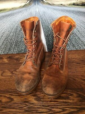 Rare Vintage Timberland Leather Non-Steel Toe Boots, Made in USA, 7.5W