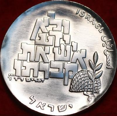 Uncirculated 1969 Israel 10 Lirot Silver Foreign Coin