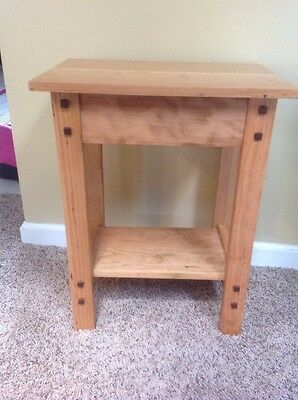 "Arts and Crafts mission Cherry table plant stand 12""x18"""