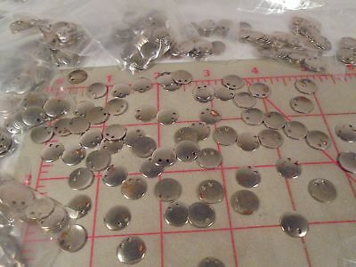 1800 Vintage Pendants Silver Colored Metal with Vintage Tarnish 2 Holes 9mm