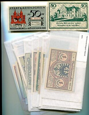 Germany Notgeld Lot Of 56 Different Notes Unc 15.00