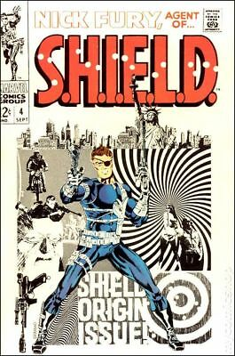 Nick Fury Agent of SHIELD (1st Series) #4 1968 VG 4.0 Stock Image Low Grade