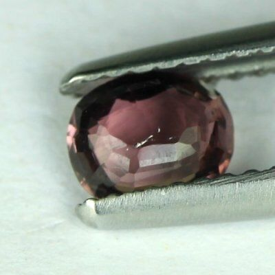 *0.61 cts.5.9 x 4.6 mm. UNHEATED NATURAL VIOLET SPINEL OVAL BURMA