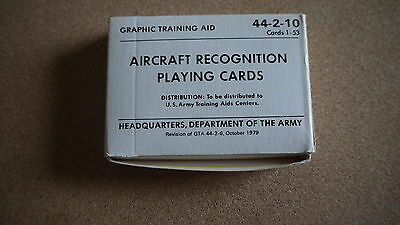 AIRCRAFT RECOGNITION Headquarters US Army 1979- Playing Cards- Neu