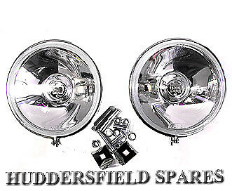 "Stainless steel 5"" Spot lights pair off for classic Mini, New with brackets"