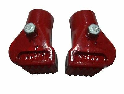New Vespa Px Lml Star Stella Main Stand Shoe Feet Pair Red @aus