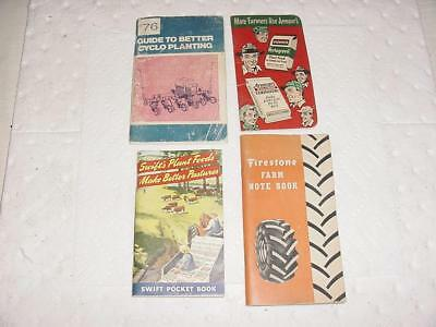 Vintage Pocket Ledgers Note Books Advertisement Literature Swifts Armour IH