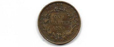 East India company 1858 1/4 anna coin