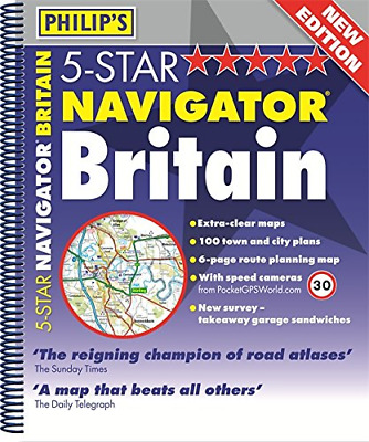 Philip's 5-Star Navigator Britain 2013: Spiral (Philips Atlas), Philip's, Good C