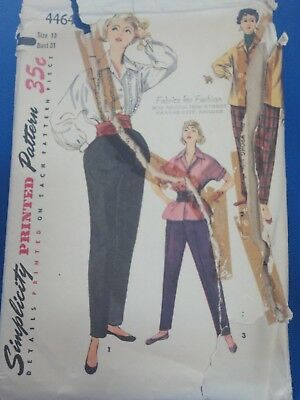 Simplicity Tapered Pant Blouse Sewing Pattern Size 13 Bust 31