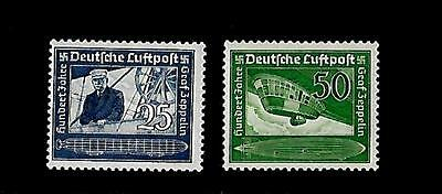 GERMANY THIRD REICH Mi 669-670  Zeppelin Stamps MNH 1938