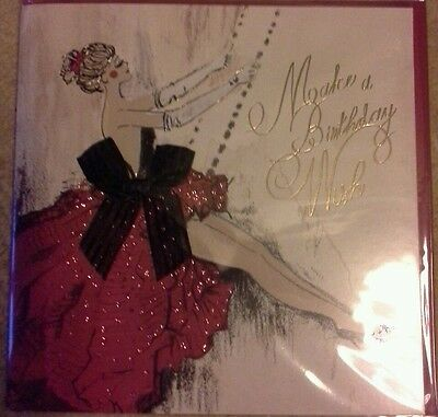 Clintons Cards Large Art Deco Birthday Card New Sealed Ribbon