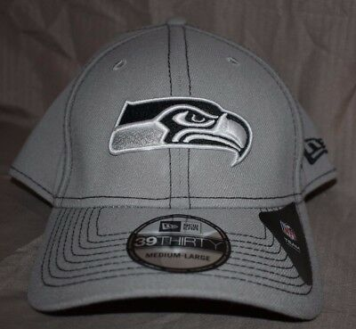 cb2d79849f65c SEATTLE SEAHAWKS HAT New Era NFL 39THIRTY Stretch Fit Flex Cap Small ...