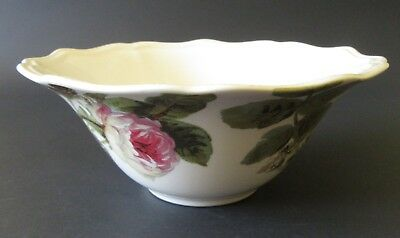 """Lenox Accoutrements All Purpose Bowl 6"""" Roses Green Floral Rustic Edge 2006-2014"""