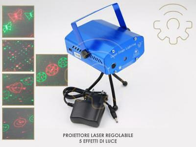 projector laser adjustable 5 effects of light di Natale discotheque dj ktv club