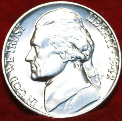 Uncirculated 1942 Philadelphia Mint Silver Jefferson Nickel