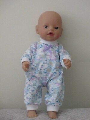 """Jumpsuit suitable for   13""""Little Baby Born  doll """" Blue & Flowers"""" SPECIAL"""