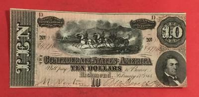 1864 $19 US Confederate States of America! Choice XF Old US Paper Money Currency