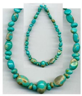Mexican Caballo CAMPITOS Mine Turquoise BEADS~100% Natural Color 5-10mm