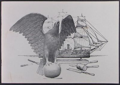 Antique Ship Carving by John Haley Bellamy - Rockland Museum 1975 Exhibit